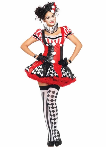 3-Piece Harlequin Clown Costume from Leg Avenue