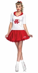 3-Piece Rydell High Cheerleader Grease Costume