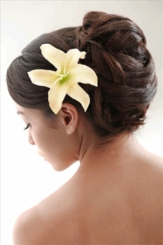 """4.5"""" Almost Alive Lilly Flower Hair Clip"""