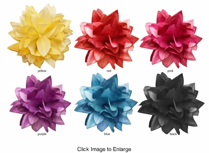 "4.5"" Flower Hair Jaw Clip (available in 6 colors)"