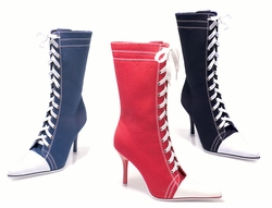 "4.5"" Heel Sneaker Calf High Boots"
