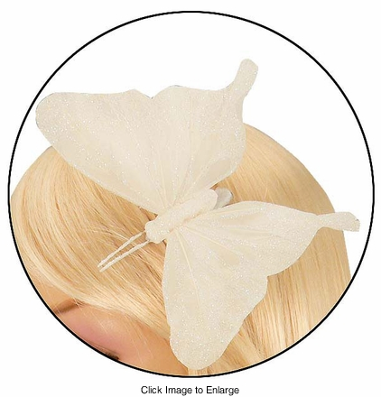 """4"""" Feather Butterly Hair Clip"""