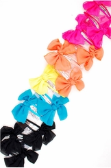 "4"" Oversized Snap Hair Clip with Bow (available in 5 colors)"