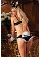 4-Piece Bedroom Bunny Costume with Bodysuit, Ears, Collar and Cuffs inset 1