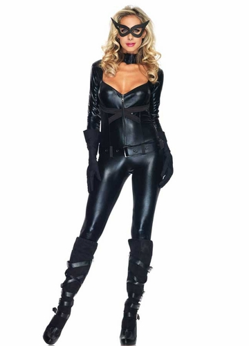 Cat Woman Catsuit Halloween Costume from Leg Avenue