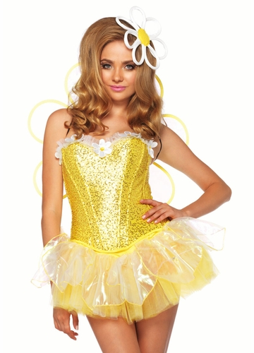 4-Piece Electric Daisy Doll Costume