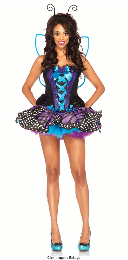 4-Piece Emperror Butterfly Costume