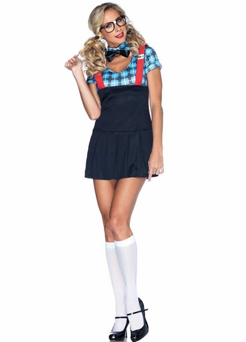 4-Piece Naughty Nerd Costume