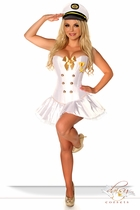 4-Piece Navy Officer Corset Costume