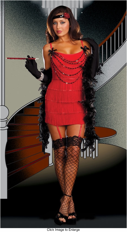 4-Piece Roaring Twenties Flapper Costume