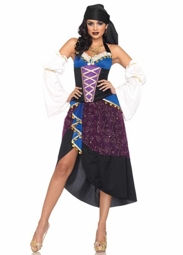 4-Piece Tarot Card Gypsy Costume