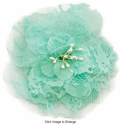 """4"""" Retro Lace Flower Hair Clips"""