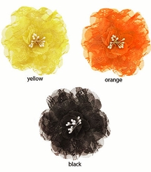"4"" Retro Lace Flower Hair Clips (available in 26 colors)"