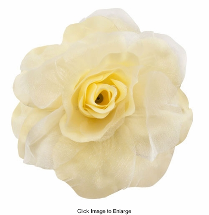 """4"""" Silky Flower Hair Clip with Chiffon Layer"""