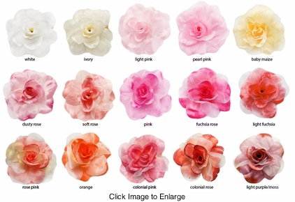 """4"""" Silky Flower Hair Clip with Chiffon Layer  (available in 15 colors)"""