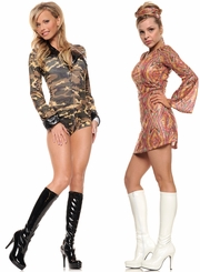 "4"" Stiletto Heel Knee High Boots"