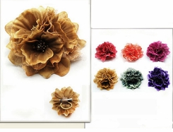 "4"" Triple Flower Hair Clip"