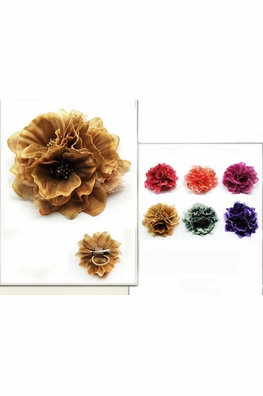 "4"" Triple Flower Hair Clip in Bright Colors"