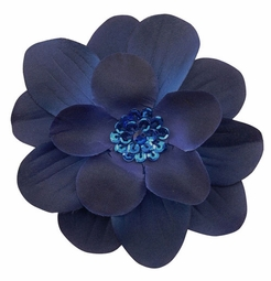"""4"""" Wide Flower Hair Clip with Sequin Center"""