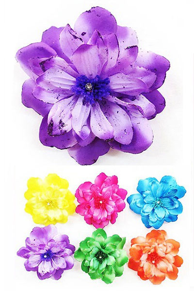 "5.5"" Flower Hair Clip with Glitter Petals"