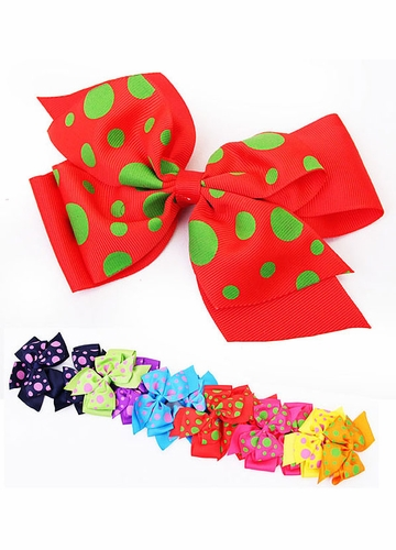 5.5 Polka Dot Ribbon Hair Bow