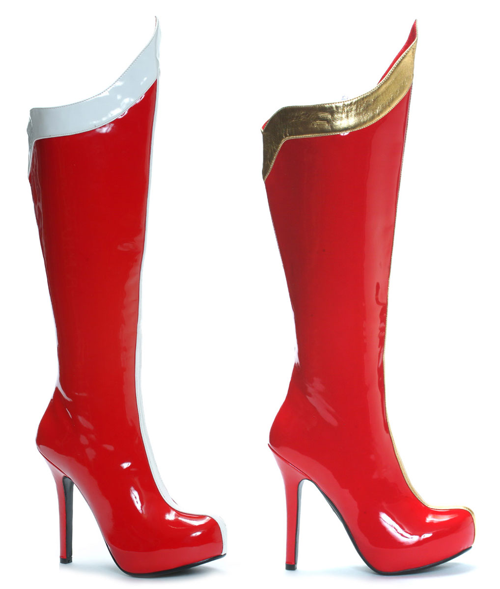 "5.5"" Stiletto Heel Knee High Wonderwoman Boots"