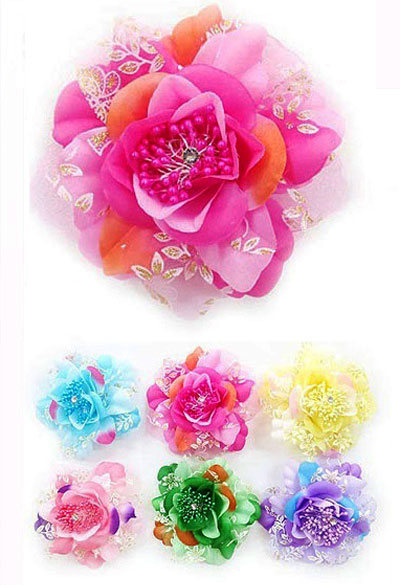 "5"" Anime Flower Hair Clip"