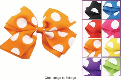 """5"""" Bow Hair Clip with Big Dots"""