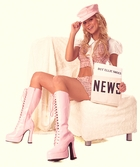 """5"""" Chunky Heel Knee High Boots with Lacing"""