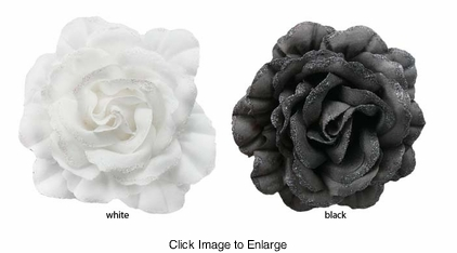 """5"""" Flower Hair Clip with Glitter Edged Petals"""