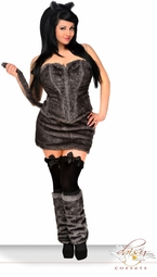 5-Piece Deluxe Big Bad Wolf Corset Costume