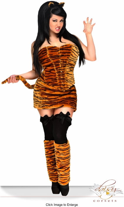 5-Piece Deluxe Tigress Corset Costume
