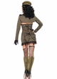 5-Piece Pin Up Army Girl Costume inset 1