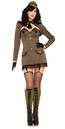 5-Piece Pin Up Army Girl Costume