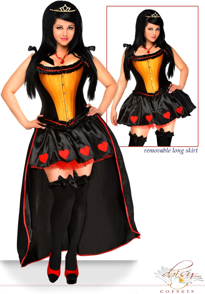 5-Piece Sexy Heart Queen Corset Costume