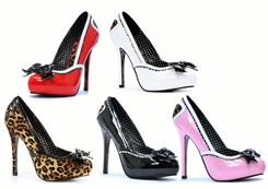 "5"" Stiletto Heel Pinup Pump with Leopard Heart"