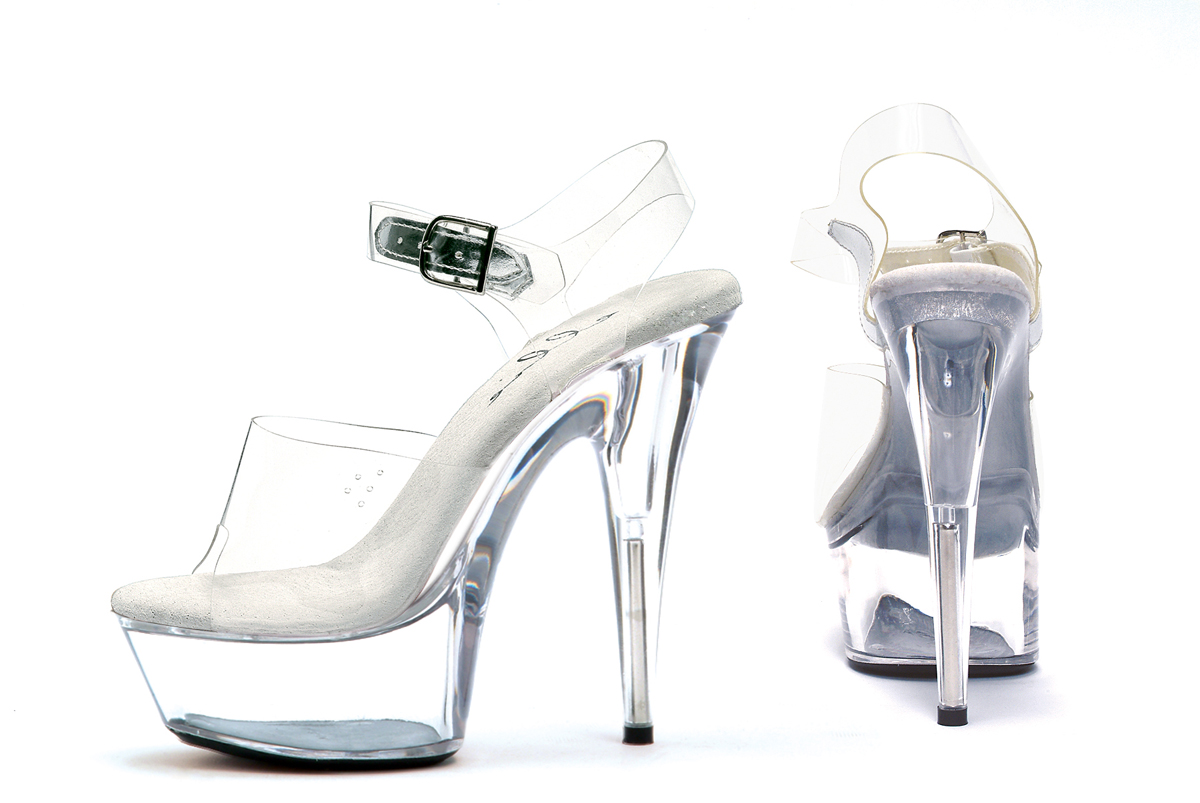 6 quot clear pointed toe stiletto heel platform shoes