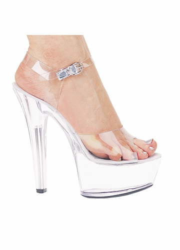 6 quot clear stiletto heel platform shoes with clear ankle