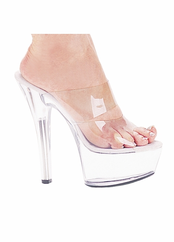 6 quot clear stiletto heel platform shoes with