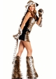 6-Piece Tempting Tiger Faux Fur Corset Costume inset 1