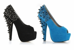 "6"" Platform Pumps with Spiked Heel"
