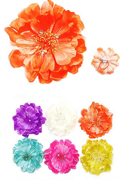 "6"" Satin Flower Hair Clip"