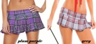 "7"" Plaid Mini Skirt in Vibrant Colors"