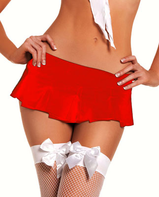 "7"" Solid Color Micro Mini Skirt"