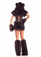 8-Piece Black Bear Faux Fur Corset Costume inset 1