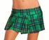 "9"" Green Plaid Checkers Mini Skirt"