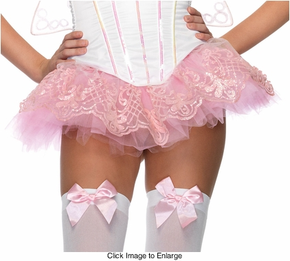 "9"" Long Glitter Filigree Tutu Petticoat in Pink"