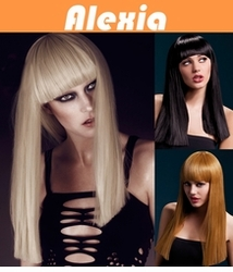 Alexia - Long Blunt Cut Wig with Fringe