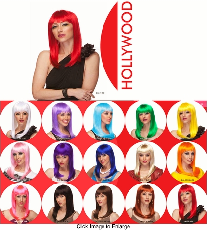 Alluring Shoulder Length Wig with Full Bangs