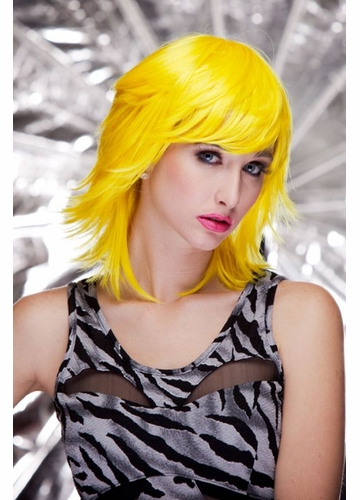 Anime Shoulder Length Wig in Sunburst Yellow